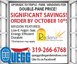 Upgrade to Triple-Pane Windows for Double-Pane Price!